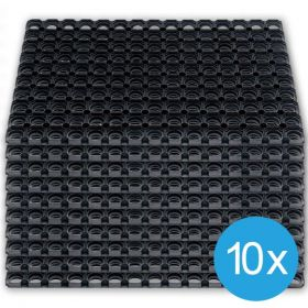 Caillebotis caoutchouc 80 x 120 cm (10 pièces)