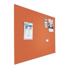 Tableau d'affichage (liège) - Mural - 90x120 cm  - Orange