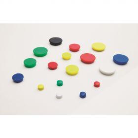 Aimants pour tableau blanc 25 mm - Noir - 10 pièces