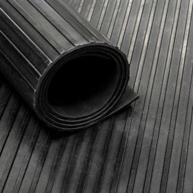 Tapis caoutchouc nervuré 3 mm - largeur 100 cm (par mètre linéaire)