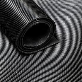Tapis caoutchouc strié 3 mm - largeur 180 cm (par mètre linéaire)