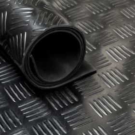Tapis caoutchouc larmé type checker 3 mm - largeur 150 cm (par mètre linéaire)