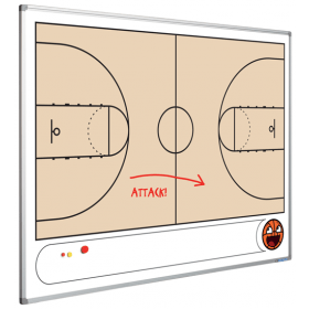 Tableau blanc - terrain de basketball - 90 x 120 cm