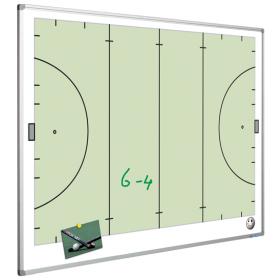 Tableau blanc - terrain de hockey - 90 x 120 cm