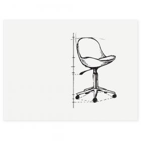 BOARD-UP frameless whiteboard - 75x100 cm