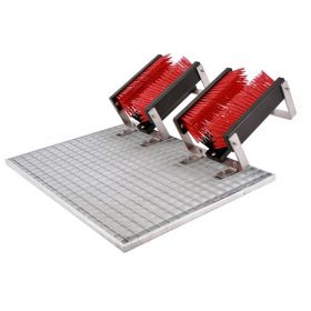 FloorMAX Exklusiv - Module de nettoyage professionnel pour chaussures avec grille - Double