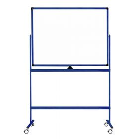 Tableau blanc mobile - Double face et magnétique - 100 x 150 cm - Bleu