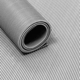 Rubber loper / rubbermat op rol ribbel 3mm grijs - Breedte 120 cm - Geurloos