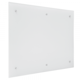 Tableau en verre blanc- 100x200 cm 6-points