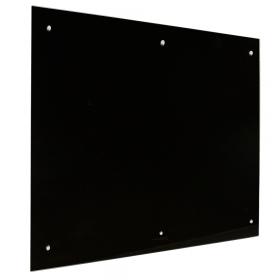 tableau en verre noir 6 points noir