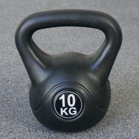 Kettlebell voor binnen en buiten - Kunststof - Zwart - 10 kg