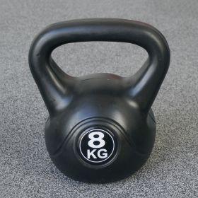 Kettlebell voor binnen en buiten - Kunststof - Zwart - 8 kg