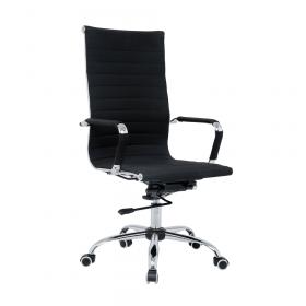 chaise de bureau de luxe noire