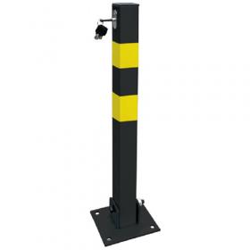 Anti-parkeer paal - Vierkant - Geel / zwart 1