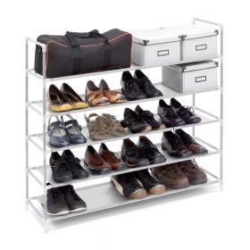 relaxdays schoenenrek voor 20 paar wit