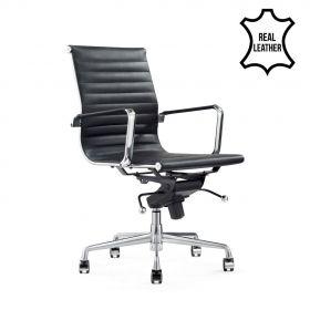 Chaise de bureau Valencia - 100% cuir