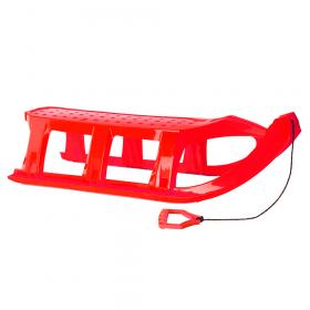 Luge en plastique  - 109 x 40 cm - Rouge