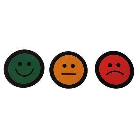 Aimants Smiley – Rouge, Vert, Orange –  Ø 50 mm – Lot de 15 pièces