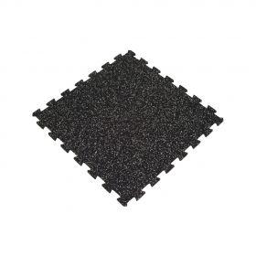 sportvloer puzzel tegel zwart met grijs 100x100cm