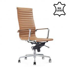 Chaise de bureau Madrid Cognac - 100% cuir
