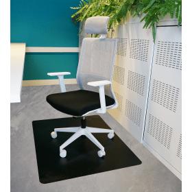 tapis protection de sol noir 120x150 cm