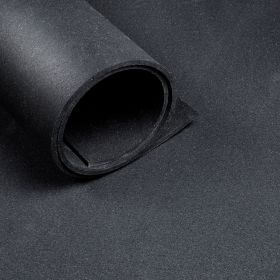 Sol pour salle de sport - rouleau de 12,5 m2 - épaisseur de 8 mm - Noir