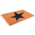Tapis coco - motif étoile - 40 x 60 cm