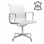 Chaise de réunion Murcia 100% cuir - Blanc